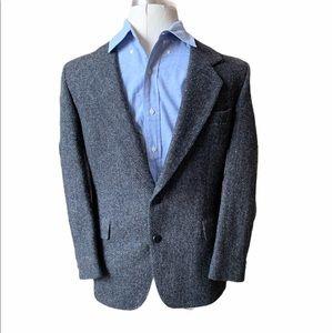 1980s vintage HARRIS TWEED Suit Jacket/Gray Jacket